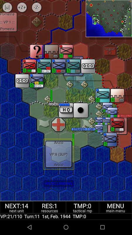 Androidアプリセール情報25%OFF【399円→299円】第二次世界大戦中のモンテ・カッシーノの戦いを舞台としたターンベースの戦略ゲーム「Allied landing at Anzio & Battle of Monte Cassino」